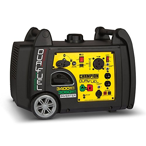 Champion 3400-Watt Dual Fuel RV Ready Portable Inverter Generator with Electric Start (Best Generator For Tailgating)