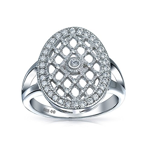 Interwoven CZ Engagement Ring Sterling Silver by Bling Jewelry (Image #3)