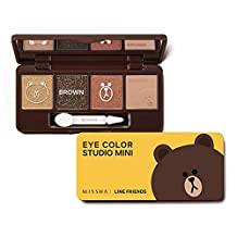 Missha X Line Friends Eye Color Studio Mini #02 Brown Brownie