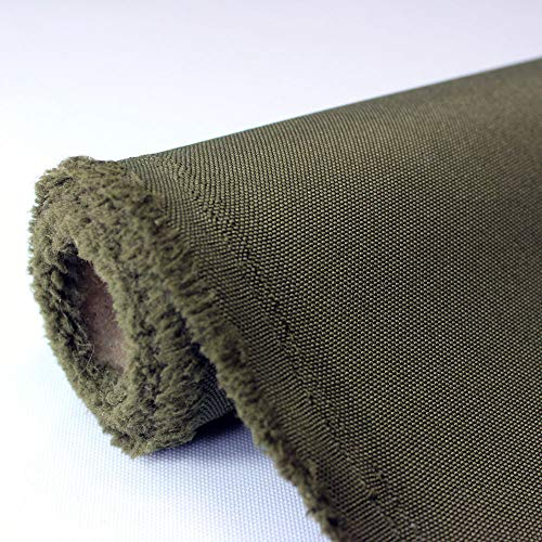 Waterproof Canvas Fabric Outdoor 600 Denier Indoor/Outdoor Fabric by the yard PU Backing W/R, UV, 2times GOOD PU Color : Olive (5 yards)
