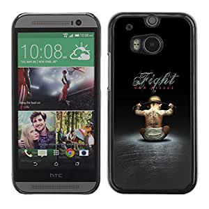 EJOY---Cubierta de la caja de protección la piel dura para el / HTC One M8 / --Gangster bebé - Gracioso