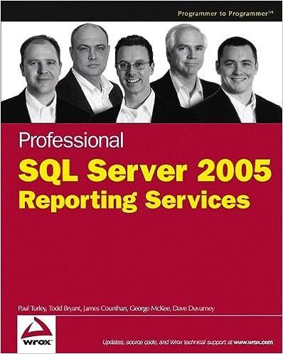Libro de descarga gratuita Professional SQL Server 2005 Reporting Services PDF 0764584979