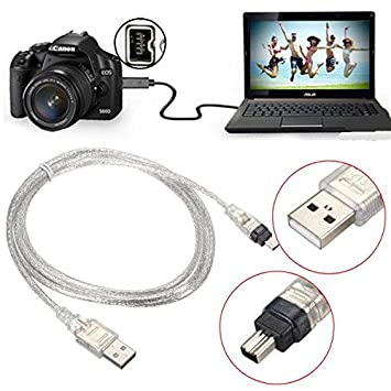 Amazon.com : 1.5M/5FT USB 2.0 Male to 4 Pin IEEE 1394 Cable FireWire ...