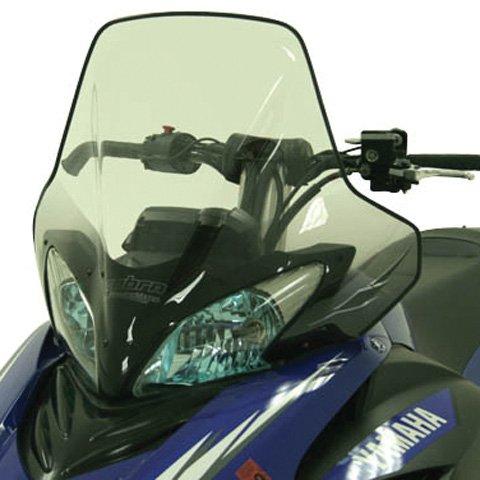 Yamaha Snowmobile Windshield - PowerMadd 15640 Cobra Windshield for Yamaha Apex/Attak - Clear with black gradient - Tall height
