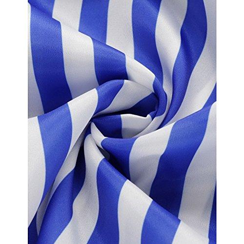Spalline Blu Scollo Maxi Strisce Sexy Boho A Sleevelss Estate Spaccatura Lungo Donne A Partito Delle V Profonda Abito Laterale Abito Hzxtq4Pwt