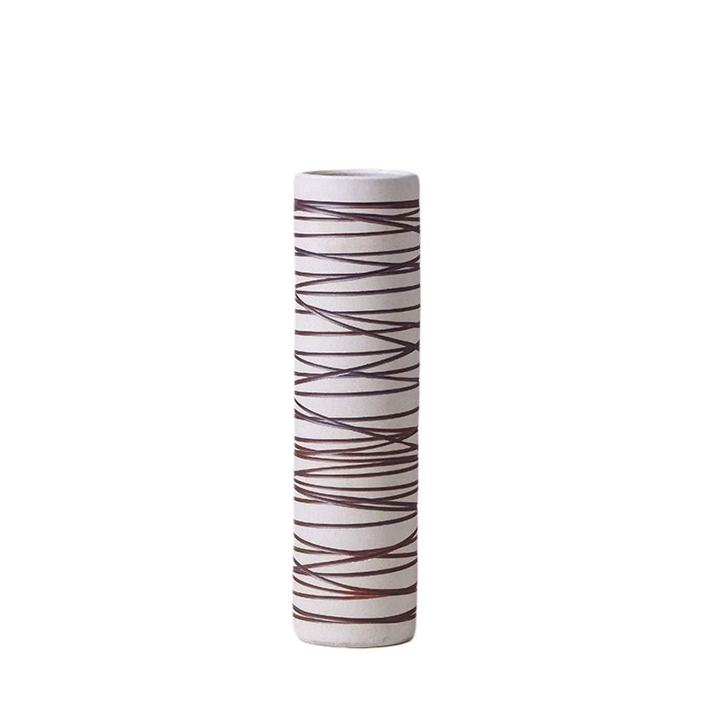 MAHONGQING 花瓶クリエイティブファッションリビングルームの床現代のミニマリストホームデスクトップフラワーフラワーアレンジメント装飾手作りの花瓶アート装飾 (Size : L) B07RTPH35V  Large