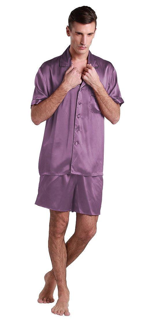 LilySilk Seide Nachtwäsche Pyjama 2 Teilig Schlafanzug Herren Lang 22 Momme Verpackung MEHRWEG B00M1B15KA Schlafanzüge Bekannt für seine schöne Qualität