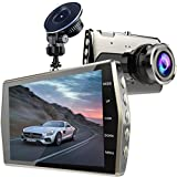 Dash Cam, Zintou 4 LCD Dash Camera FHD 1080P, 170 Degree Wide Angle Dashboard Camera Recorder with G-Sensor, Loop Recording and NightHawk Vision,SD Card Not Included