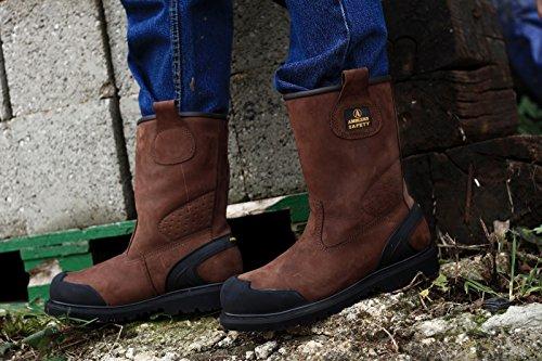 Amblers Safety Herren FS223 Sicherheitsschuhe Wasserdicht Stiefel Arbeitsstiefel Braun 41