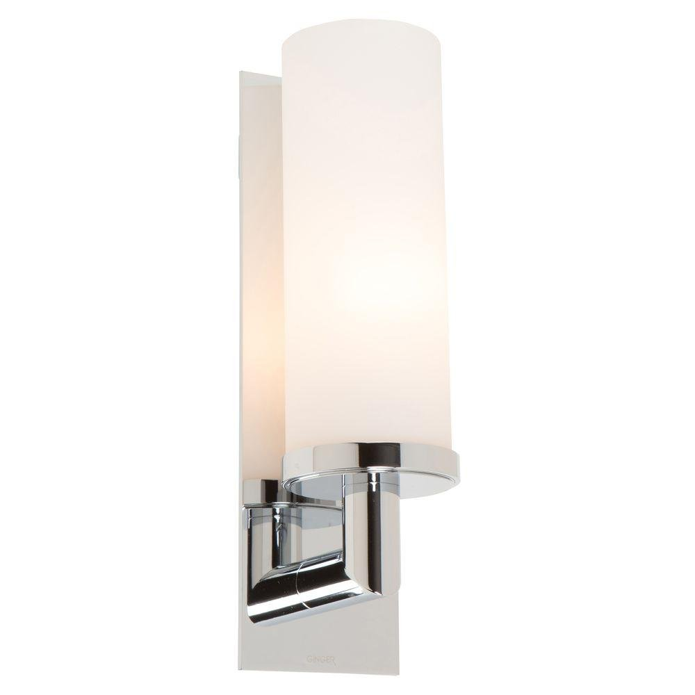 Ginger 2881/26 1 Light Up Lighting Wall Sconce, Polished Chrome   Vanity  Lighting Fixtures   Amazon.com Part 43