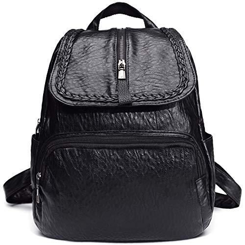 for Shoulder Black1 Convertible Purse Backpack Bag Leather Women Small Sling OqfPgn