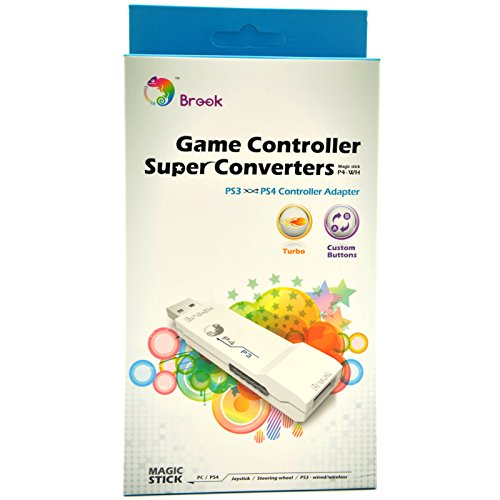 CtrlDepot Brook Super Converter: PS3 to PS4 USB Controller Adapter Support Wired/Wireless PS3 Joystick Logitech G27/G29