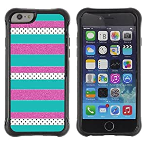 Paccase / Suave TPU GEL Caso Carcasa de Protección Funda para - Purple Teal Pattern - Apple Iphone 6 PLUS 5.5