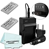 ( 2 PACK ) EN-EL5 Vivitar Batteries Ultra High Capacity 1200mAh Li-ion For NIKON Coolpix P530, P520, P510, P100, P500, P5100, P5000, P6000, P90, P80 (Nikon EN-EL5 Replacement) + AC/DC Rapid Travel Charger + Microfiber Cloth