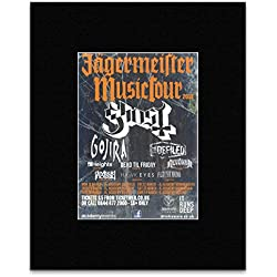 JAGERMEISTER MUSIC TOUR - 2013 - Ghost Gojira Defiled Mini Poster - 28.5x21cm