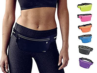 Fitters Niche UltraSlim Fitness Sports Waist Fanny Packs, Water Resistant Reflective Adjustable Outdoor Running Belt , Fit IPhone X 8 Plus, Samsung Note 8, Idea for Cycling, Walking, Hiking