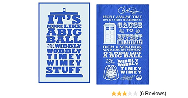 2 Different Designs Doctor Who Pack of Two Tea or Dish Towels TIMEY WIMEY New