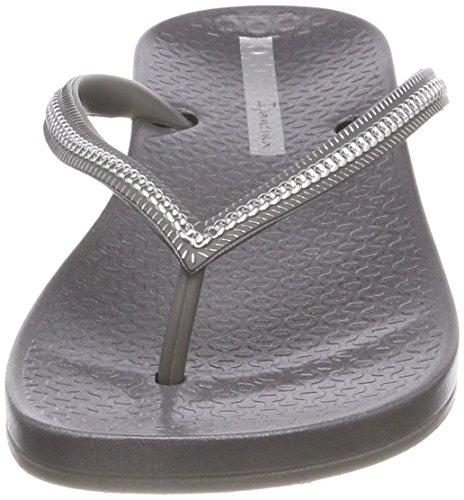 silver grey Para Metallic Fem 8182 Mujer Ipanema Anatomic Chanclas Multicolor C8IqnwIax0