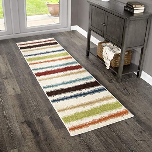 Orian Rugs Veranda Indoor/Outdoor Montreal Stripes Runner Rug, 2'3