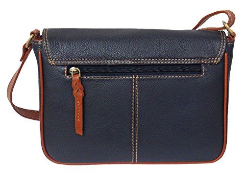Damen Leder Tasche, Umhängetasche Leder, Damentasche, Ledertasche, Schultertasche Leder, Handtasche, Damen Handtasche, Echtleder - Blau