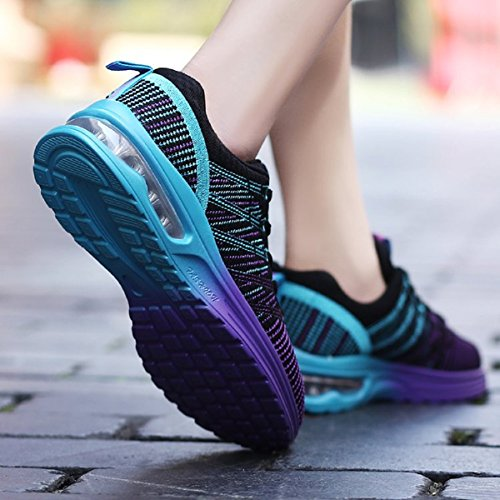 Running Black Footwear Lightweight Breathable Sport Gym Black Rose Colorful Womens Grey Athletic NEOKER Shoes Mens Trainers q8xZ1IH