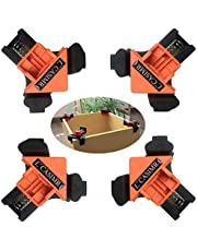 C CASIMR 90 Degree Corner Clamp, Single Handle Loaded Right Angle Clamp, Adjustable Swing Jaw Woodworking Welding Clip Clamp Tool