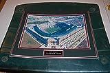 Texas Rangers Ballpark at Arlington Globe Life Image Framed on Stadium Seat Bottom game used COA