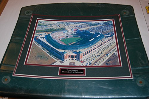 (Texas Rangers Ballpark at Arlington Globe Life Image Framed on Stadium Seat Bottom game used COA)