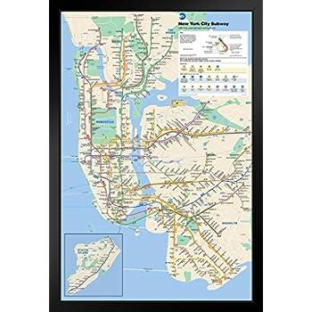 Nyc Subway Map Ebay.Amazon Com Pyramid New York City Subway Poster Print Nyc Poster
