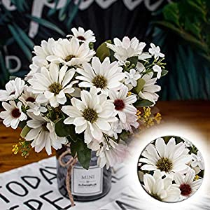 Dried Flowers Artificial Flowers 9 Branch 25 Simulation Aster Fake Flower Wedding Decoration Artificial Sun Flower Bouquet Suitable for Home Innovative Decoration, Wedding Party Decoration 89