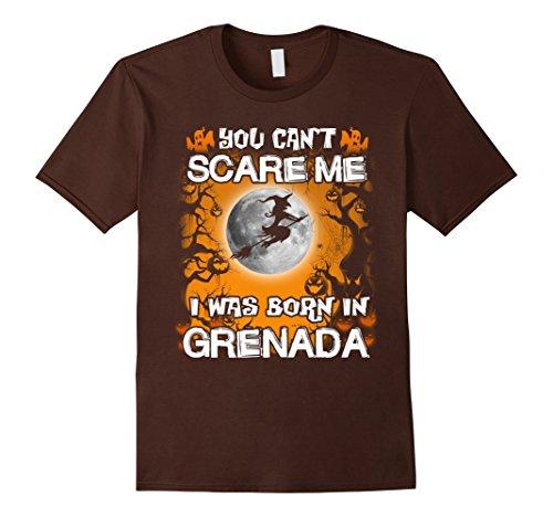 Mens Grenada funny Halloween tees 2XL Brown (Grenadians On Halloween)