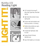 LIGHT IT! by Fulcrum 20010-301 LED Wireless Multi Flex Clip On Task Light and Book Light, Silver
