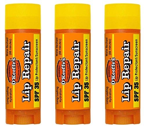 OKeeffes Lip Repair SPF 35 Lip Balm, (Pack of 3)