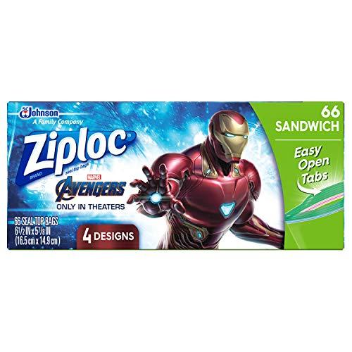 Ziploc Brand Sandwich Bags, Marvel Studios' Avengers: Endgame, 66 ct
