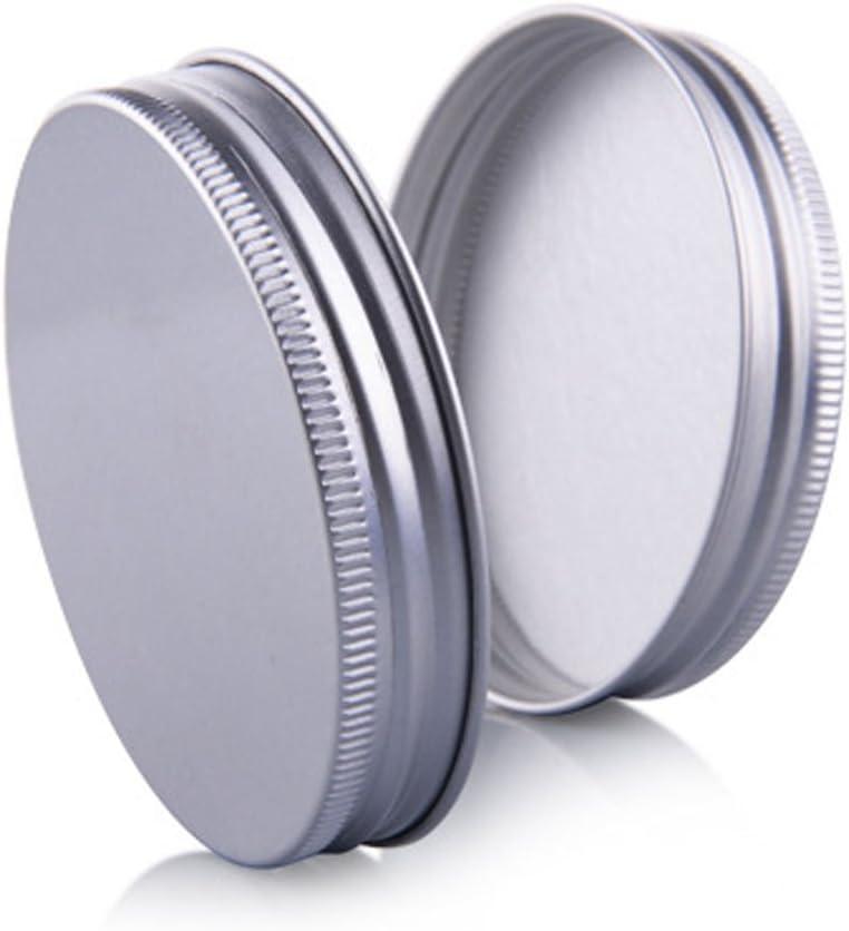 6/pcs 50/G PET Pl/ástico Empty Rellenable Crema Loci/ón Facial M/áscara Maquillaje Carcasa contenedor cosm/éticos Tarros olla con tapa de aluminio