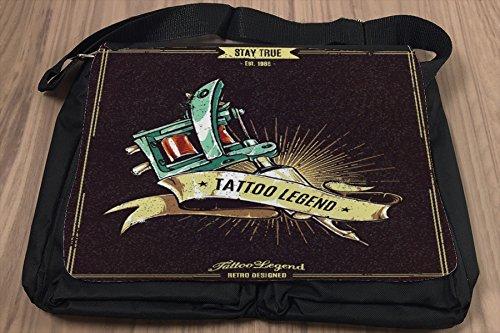 Umhänge Schulter Tasche Arbeitszimmer Tattoolegende bedruckt Titel ws1ogAm