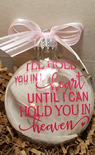 - Amy's Bubbling Boutique Memorial Ornament, Christmas Ornament, Christmas Memorial, Heaven Ornament, Custom Made Christmas Ornament, in Loving Memory, (Pink Vinyl, Added Name & Date to Back)