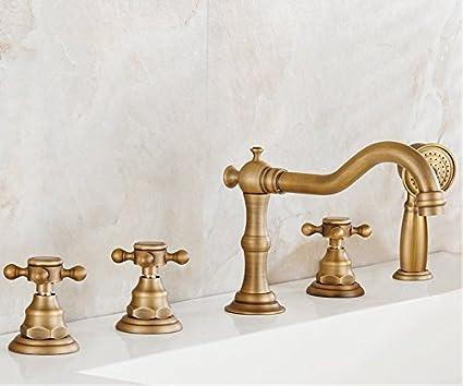 Vasca Da Bagno In Rame Prezzi : Set rubinetto vasca da bagno di rame antica continental retrò