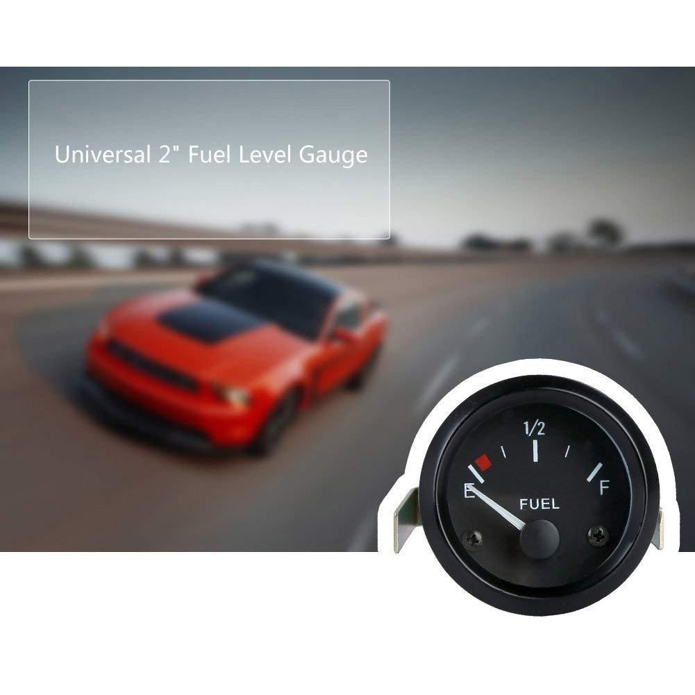 Coomir Indicateur de Niveau de Carburant Universel 252mm avec pointeur de capteur E-1//2-F 12V pour Voiture SUV