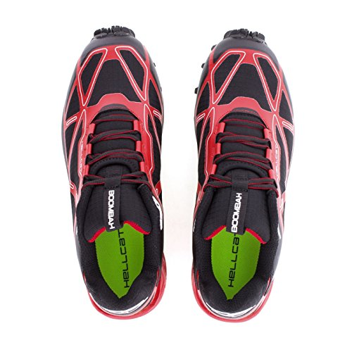 discount store outlet from china Boombah Men's Hellcat Trail Shoe - 14 Color Options - Multiple Sizes Black/Red perfect sale online QaUpmgx37v