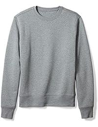 Men's Long-Sleeve Crewneck Fleece Sweatshirt