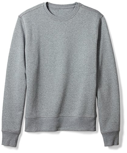 Amazon Essentials Men's Crewneck Fleece Sweatshirt, Light Grey Heather, Large