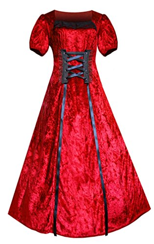Victorian Red Dress - 4