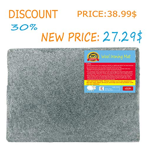 Wool Pressing Mat 13.5 X 13.5 inches Wool Ironing Pad for Quilting Perfect for All Ironing Station/— Grey