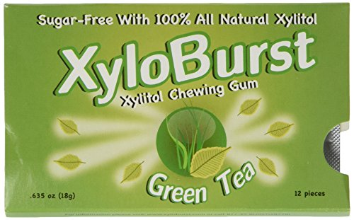 XyloBurst Blister Pack Green Tea (12 piece) (Xylitol Pack Blister)
