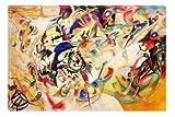 Kandinski Abstract III Canvas Wall Art Reproduction, 5 Stars Gift Startonight 31.5 X 47.2 Inch