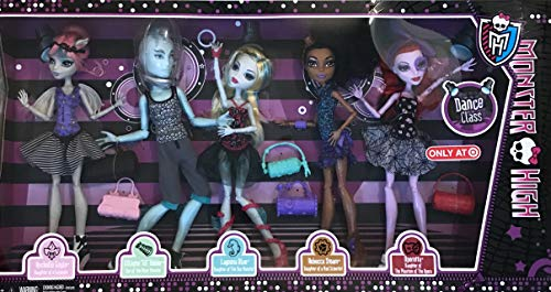 Monster High 5 Pack Dance Class w Rochelle GOYLE, 'GIL' Webber, Lagoona Blue, Rebecca STEAM & Operetta Target Exclusive (2013)]()