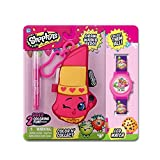 MSI Entertainment Shopkins Color N Wash Hook Plush and LCD Watch Bundle, Lippy Lips