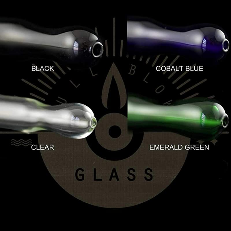 Eco-Friendly and Non-Toxic Made in the USA in Your Choice of Color FBG Flamingo Glass Drinking Straw 9 Reusable