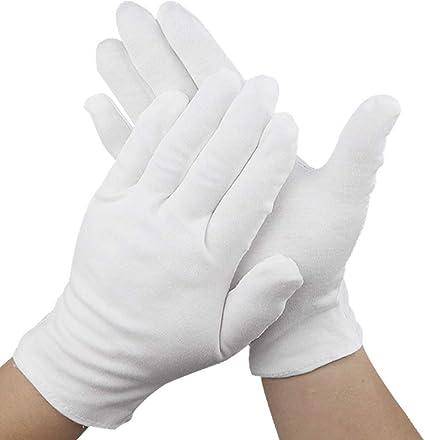 12 pares 9.4 pulgadas guantes hidratantes guantes de algodón cosméticos cosméticos hidratantes mano guantes de spa guante que mejora la humedad: Amazon.es: Belleza